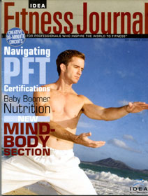 Idea Fitness Journal. Scott Cole cover photo and article.
