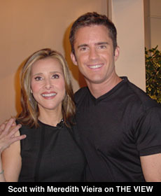 Photo Scott Cole and Meredith Vieira on The View